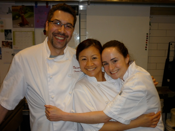 With Chef Thierry and his wife