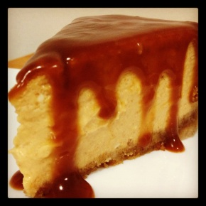Pumpkin Cheesecake with Rum-Caramel