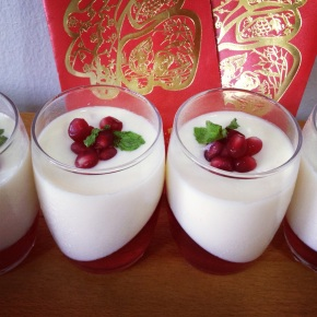 CNY-inspired recipe #3: Lychee Panna Cotta with Pomegranate Jelly
