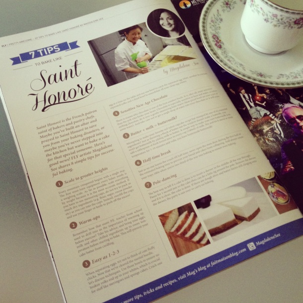 Fly Magazine (Dec 2012) - 7 Tips to Bake Like Saint Honore