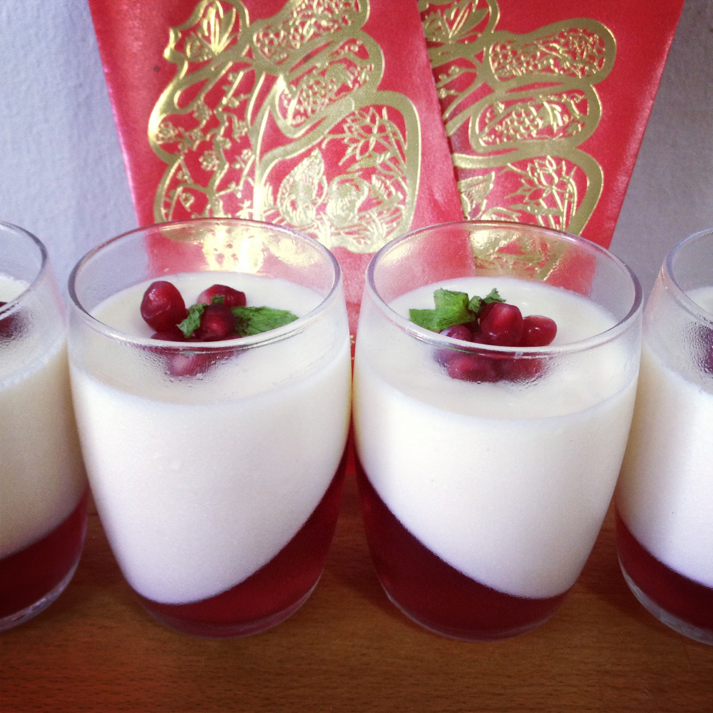 pomegranate panna cotta with the pomegranate lemon panna cotta with ...