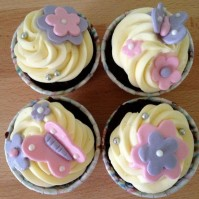 Custom-design 'Butterflies' Cupcakes