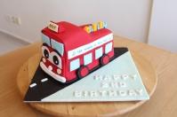 Custom 3D 'Wheels on the Bus' Cake