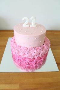 Custom-design 'Ombre Roses' Cake