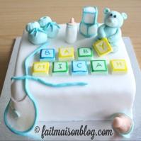 Custom-design 'Baby Shower' cake