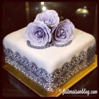 Custom-design 'Roses and Lace' cake