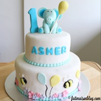 Custom-design 'Elephant and Bees' Cake