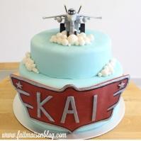 Custom-designed 'Planes' Cake