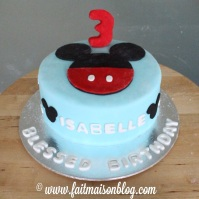 Custom-design Mickey Cake