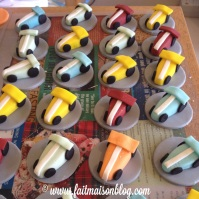 Custom-design Race Car Cupcake Toppers