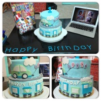 Custom-design 'Vehicle of Joy' Fondant Cake