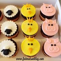 Custom-Design Animal Farm Cupcakes