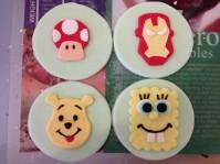 Custom-design 'Cartoon' Fondant Cupcake Toppers