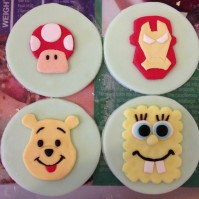 Custom-design 'Cartoon' Fondant Cupcake Toppers