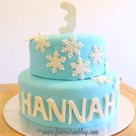 Custom-design 'Snowflake' Cake