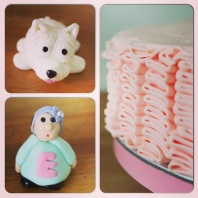 Custom-design 'Ruffles' Cake with Fondant Toppers