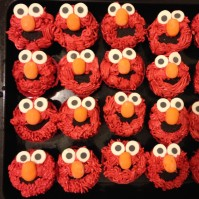 Custom-design 'Elmo' Cupcakes