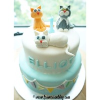Custom-design 'Cats' Cake