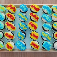 Personalized Comic Cupcake