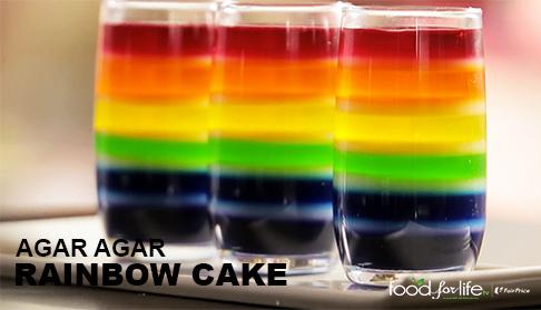 agar agar rainbow cake